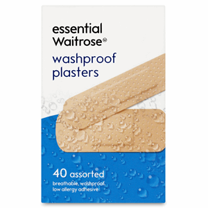 Essential Waitrose Washproof Plasters 40 Assorted Image