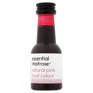 Essential Waitrose Natural Pink Food Colour 38ml Image