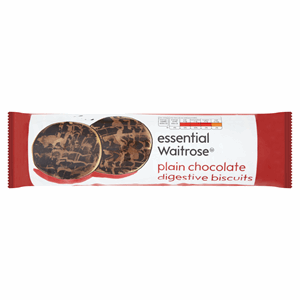 Essential Waitrose Plain Chocolate Digestive Biscuits 400g Image