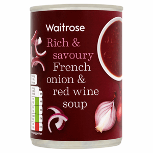 Waitrose French Onion & Red Wine Soup 400g Image