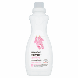 Essential Waitrose Sensitive Laundry Liquid Concentrated 960ml Image