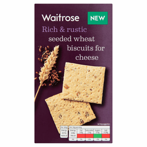 Waitrose Seeded Wheat Biscuits for Cheese 130g Image