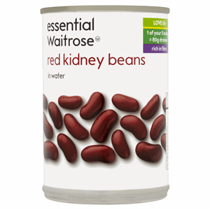 Essential Waitrose Red Kidney Beans in Water 400g Image
