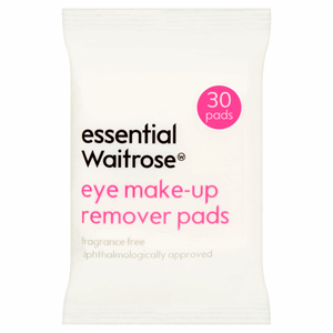 Essential Waitrose Eye Make-Up Remover Pads 30 Pads Image