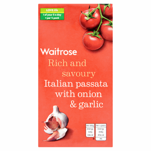 Waitrose Italian Passata with Onion & Garlic 500g Image