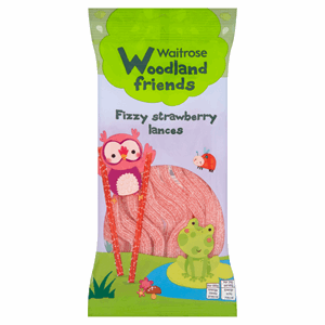 Waitrose Woodland Friends Fizzy Strawberry Lances 100g Image