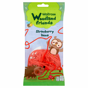 Waitrose Woodland Friends Strawberry Laces 100g Image