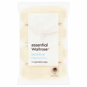 Essential Waitrose Sensitive Vegetable Soaps 4 x 125g (500g) Image