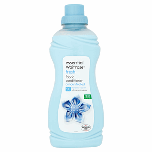 Essential Waitrose Fresh Fabric Conditioner Concentrated 1L Image
