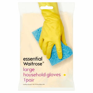 Essential Waitrose Large Household Gloves 1 Pair Image