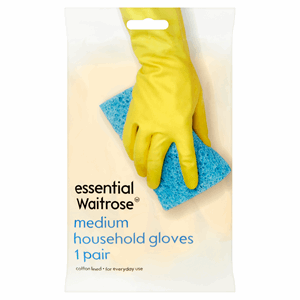 Essential Waitrose Medium Household Gloves 1 Pair Image