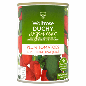 Waitrose Duchy Organic Plum Tomatoes in Rich Natural Juice 400g Image