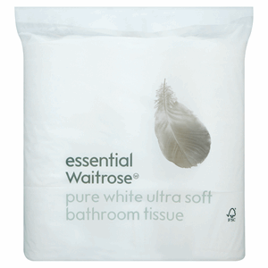 Essential Waitrose Pure White Ultra Soft Bathroom Tissue 9 Rolls Image