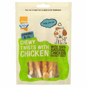 Good Boy Pawsley & Co. Chewy Twists with Chicken 90g Image