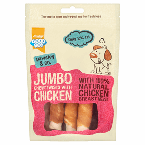 Good Boy Pawsley & Co. Jumbo Chewy Twists with Chicken 100g Image