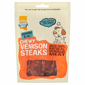 Good Boy Pawsley & Co. Chewy Venison Steaks 80g Image