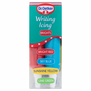 Dr. Oetker Writing Icing Brights 4 x 19g (76g) Image