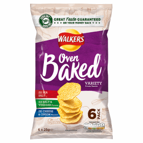 Walkers Baked Variety Snacks 6x25g Image