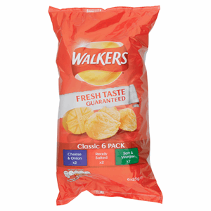 Walkers Classic Variety Crisps 6x25g Image