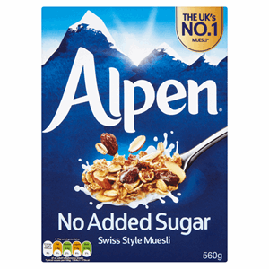 Alpen No Added Sugar Swiss Style Muesli 560g Image