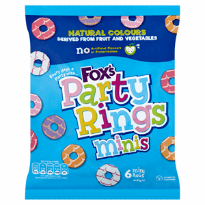 Fox's Party Rings Minis 6 x 21g Image