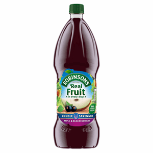 Robinsons Double Concentrate Apple & Blackcurrant Squash No Added Sugar 1.75L Image