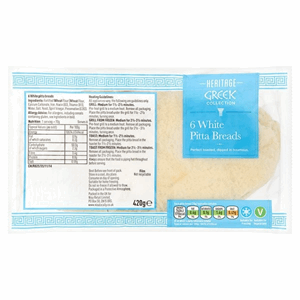 Heritage Greek Style Pitta Bread 6Pack  420g Image