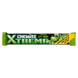 Chewits Xtreme Extremely Sour Apple Chews Image