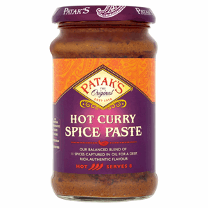 Patak's Hot Curry Spice Paste 283g Image