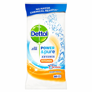 Dettol Kitchen Cleaning Wipes Power & Pure 80ea Image