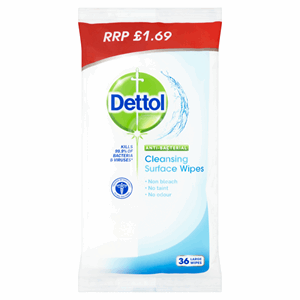 Dettol Anti-Bacterial Cleansing Surface Wipes 36 Large Wipes Image