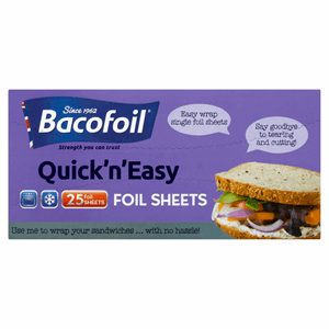 Bacofoil Quick 'n' Easy 25 Foil Sheets Image