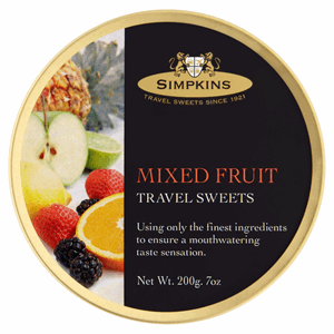 Simpkins Mixed Fruit Travel Sweets 200g Image