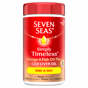 Seven Seas Cod Liver Oil One-a-Day Capsules 120's Image