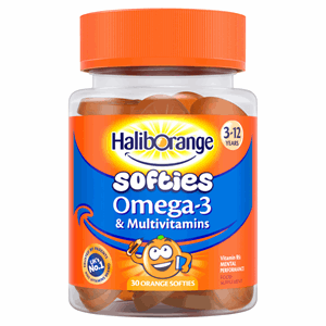 Haliborange Kids Omega-3 and Multivitamins Orange Softies 30 Image