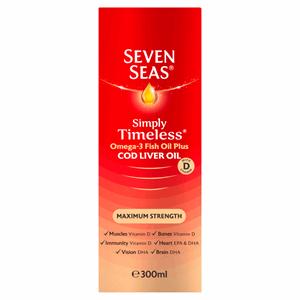 Seven Seas Cod Liver Oil Maximum Strength liquid 300ml Image