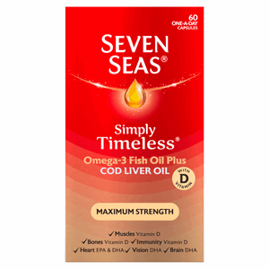 Seven Seas Cod Liver Oil Maximum Strength Capsules 60's Image