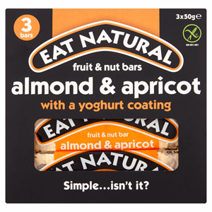 Eat Natural Fruit & Nut Bars Almond & Apricot with a Yoghurt Coating 3 x 50g Image