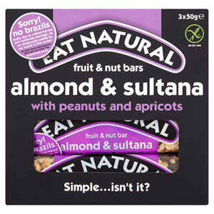 Eat Natural Fruit & Nut Bar Almond & Sultana 3 x 50g Image