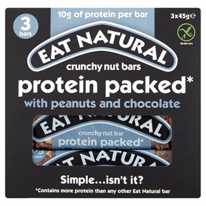 Eat Natural Protein packed Peanuts and Chocolate 3 x 45g Image