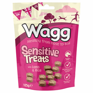 Wagg Sensitive Treats with Lamb & Rice 125g Image