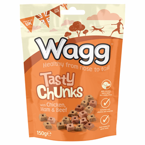Wagg Tasty Chunks with Chicken, Ham & Beef 150g Image