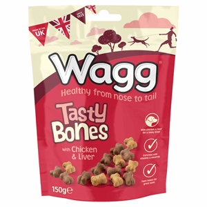 Wagg Tasty Bones with Chicken & Liver 150g Image
