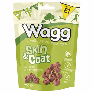 Wagg Skin & Coat with Duck & Cranberry 125g Image
