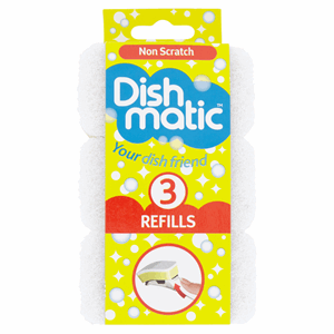 Dishmatic Non Scratch Refills 3 Pack Image