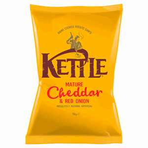 KETTLE® Mature Cheddar & Red Onion 150g Image