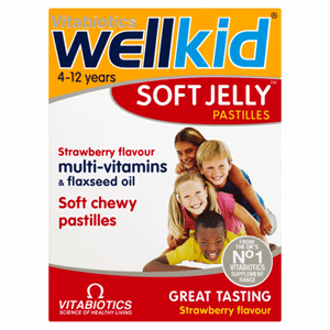 Vitabiotics WellKid Soft Jelly Strawberry Flavour 30 Pastilles Image