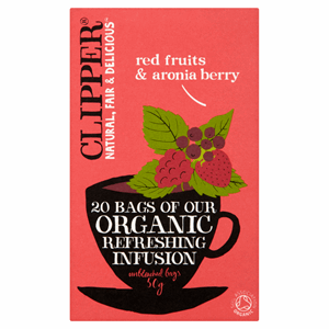 Clipper Organic Red Fruit & Aronia 20 Tea Bags 50g Image