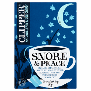 Clipper Organic Snore & Peace 20 Tea Bags 30g Image