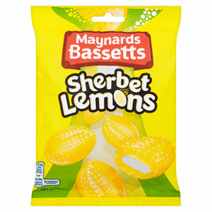 Maynards Bassetts Sherbet Lemons Sweets Bag 192g Image